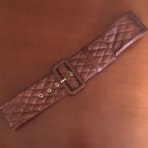 Forever 21 brown/copper quilted belt